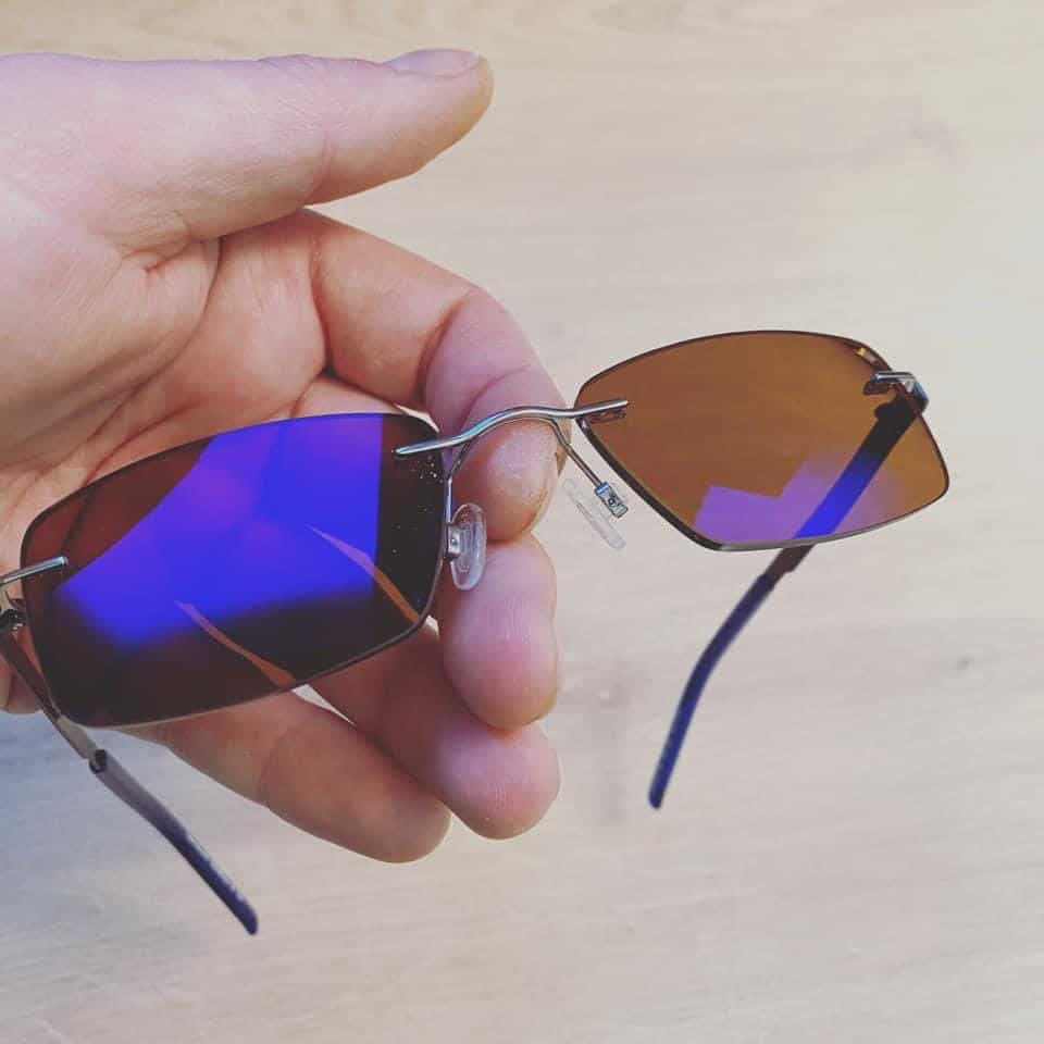 Free Form Distance Lenses With Dark Brown Tint And Smart Blue Coating