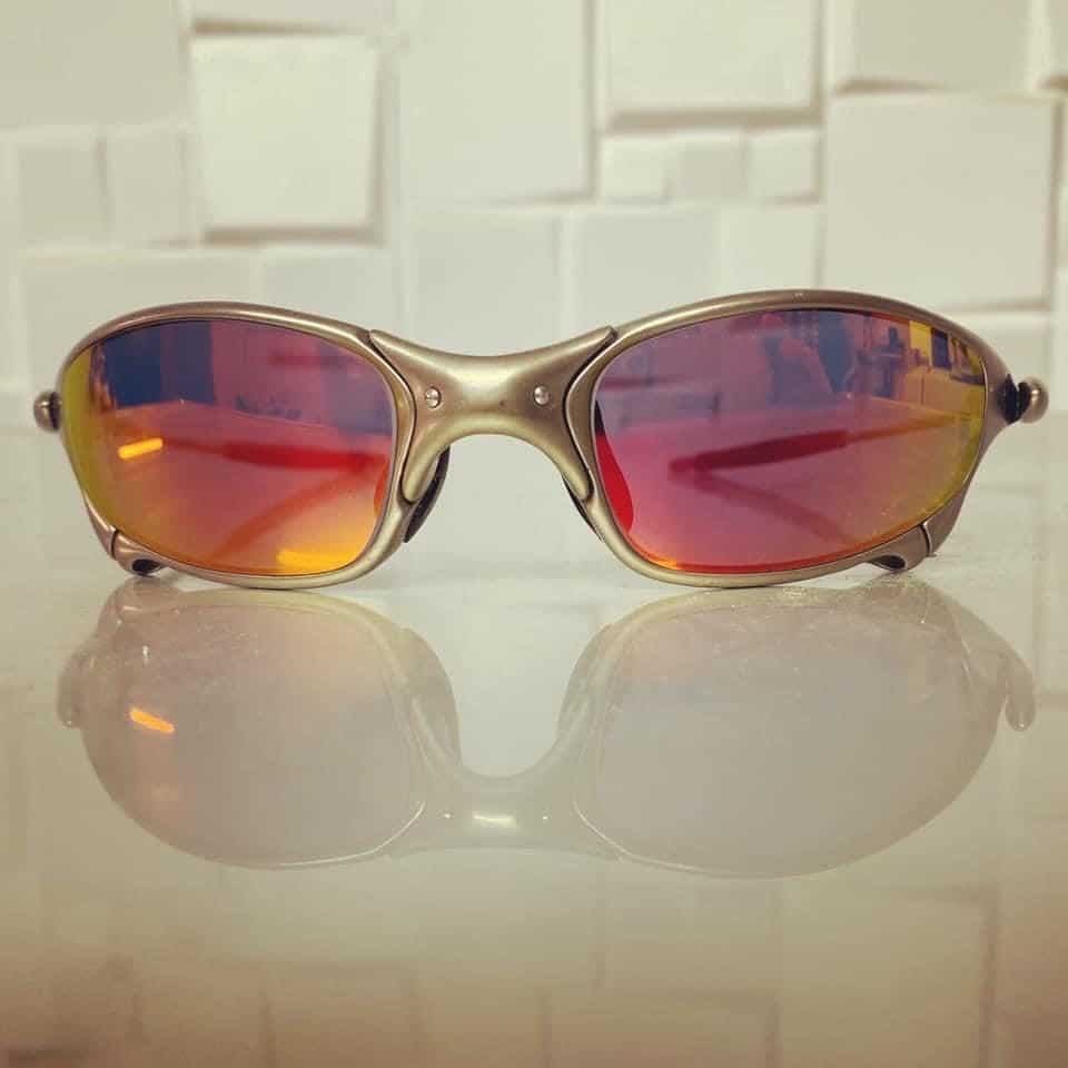 Free Form Distance Lenses With Flame Red Mirror Tint And Back Anti Reflection Coating