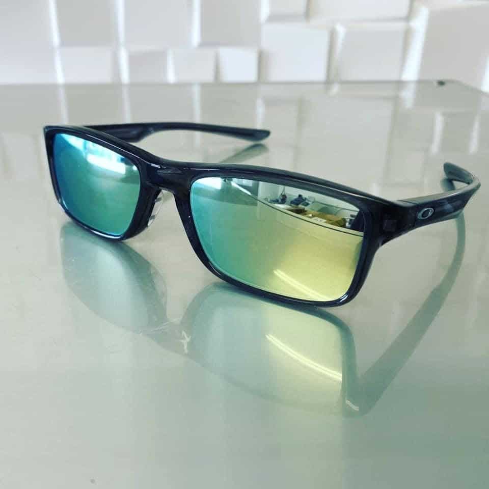 Free Form Distance Lenses With Silver Mirror Coating Reglazed Into This Oakley Sports Wrap Frame