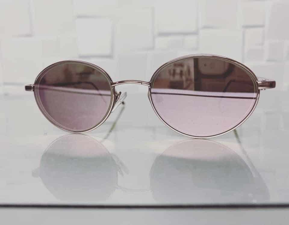Single Vision Distance Lenses With Rose Gold Mirror Coating