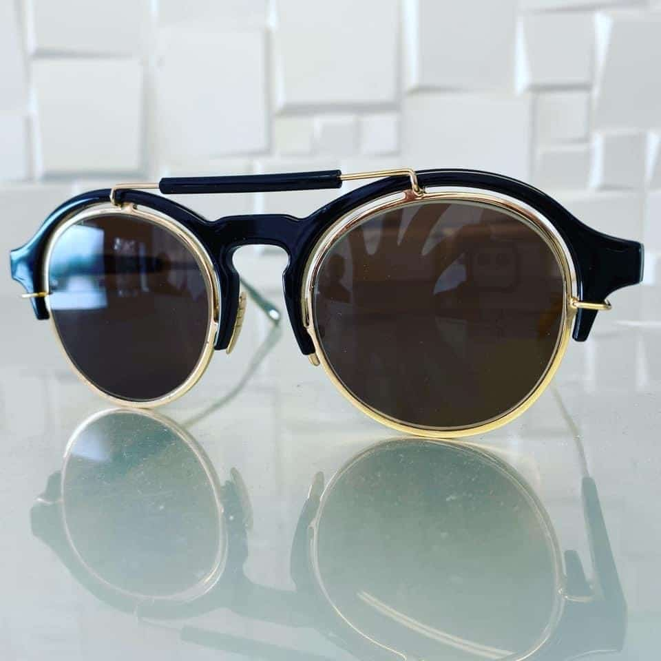 Single Vision Reading Lenses With Dark Brown Tint And Anti Scratch Coating