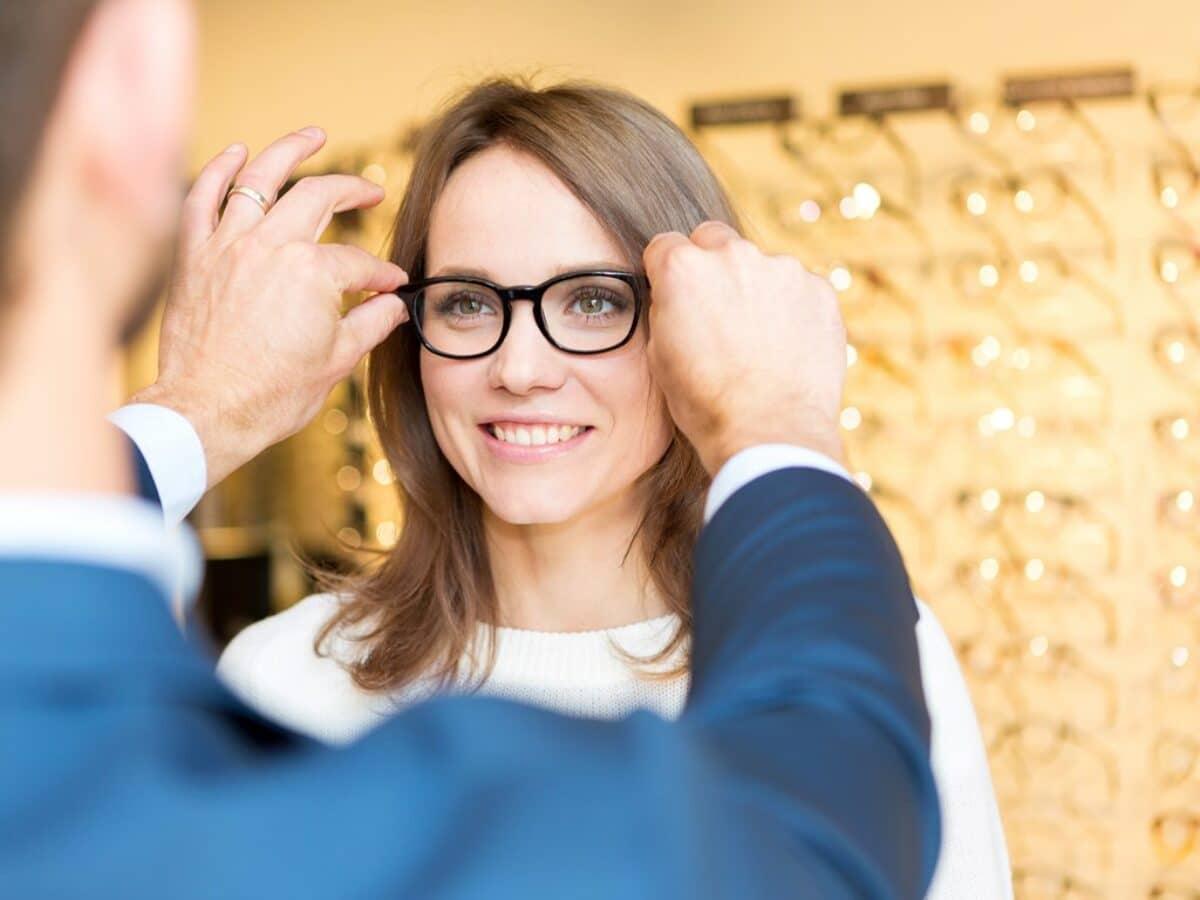 Woman WearingOptical Eyeglasses